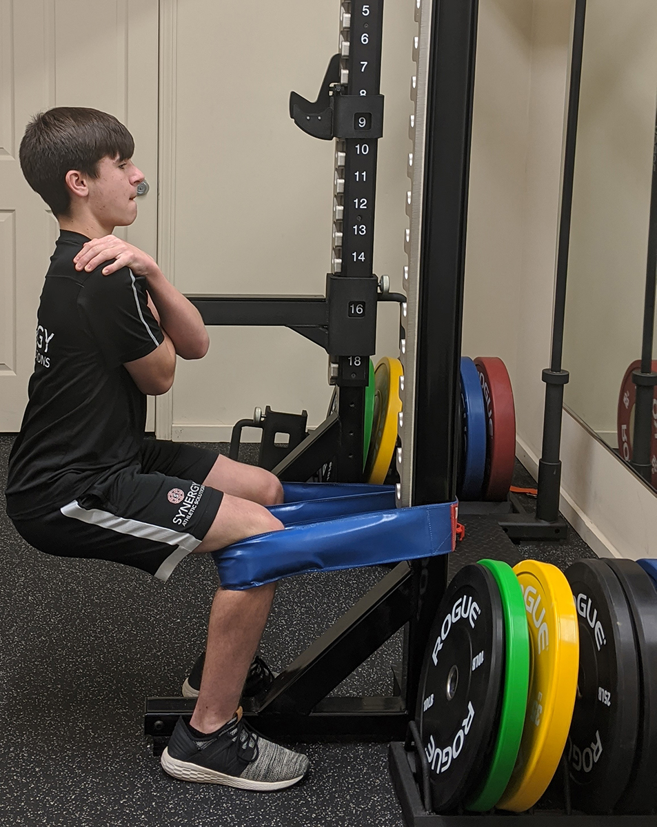 band assisted squats